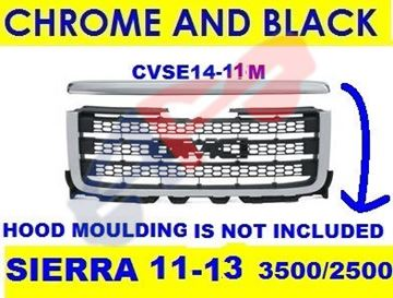 Picture of =GMSH14-11A GRILLE 11-13 CHR/BLK 2500 SIERRA