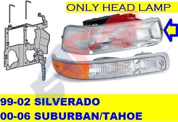 Picture of HEAD LAMP 99-02 RH SILVERADO/SUBURBAN/00-05 TAHOE