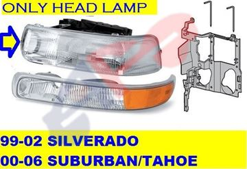 Picture of HEAD LAMP 99-02 LH SILVERADO/SUBURBAN/00-05 TAHOE