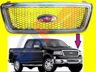 Picture of GRILLE 04-08 HONY COMB TYPE ALL-CHR