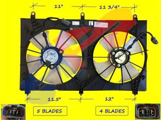 Picture of FAN ASY DUAL 03-07 4CL VALEO ACCORD