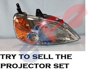 Picture of HEAD LAMP 01-03 RH SDN CIVIC