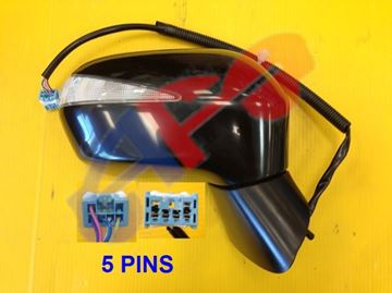 Picture of MIRROR 06-11 RH PTD PWR W/SIG MAN-FOLD HYBRID SDN CIVIC