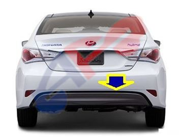 Picture of =HYSO13R-11BX ---> VALANCE TRIM 11-15 RR HYBRID SONATA OEM
