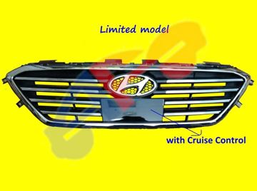 Picture of GRILLE 15-17(N-HYBRID) CHR STD W/CRUISE SONATA