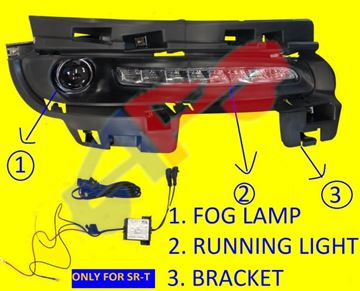 Picture of =JPGR19F-14KA ---> FOG LAMP + DAYTIME RUNNING LAMP + BEZEL 14-16 RH LED SRT G-CHEROKEE