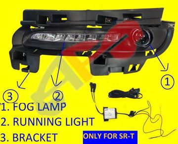 Picture of =JPGR19F-14KA ---> FOG LAMP + DAYTIME RUNNING LAMP + BEZEL 14-16 LH LED SRT G-CHEROKEE