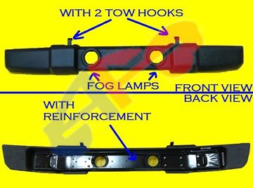 Picture of BUM 07-16 FT W/TOW W/FOG W/2TOWS AND REINFORCEMENT WRANGLER OEM