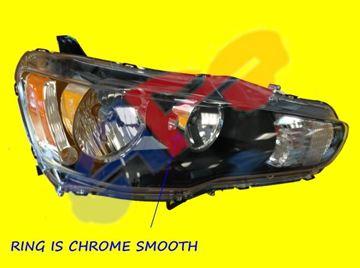 Picture of HEAD LAMP 09-17 RH BLK HALOGEN LANCER/09-15 EVOLUTION/09-17 SPORTBACK