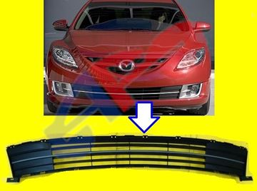 Picture of GRILLE (IN BUM ) 09-13 BLK W/SILVER MZ6