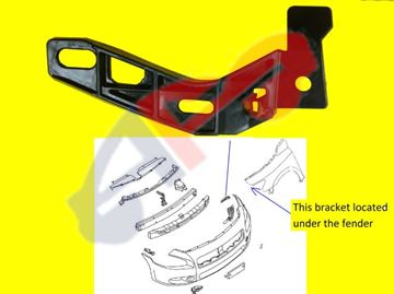Picture of BRACKET, SIDE 09-14 LH MAXIMA
