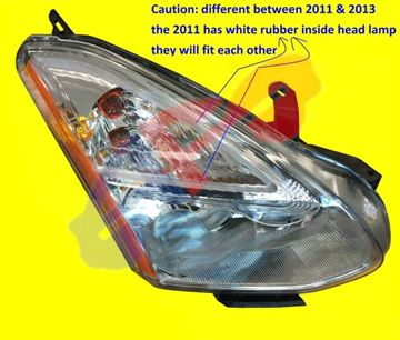 Picture of HEAD LAMP 11-12 RH HALOGEN ROUGE