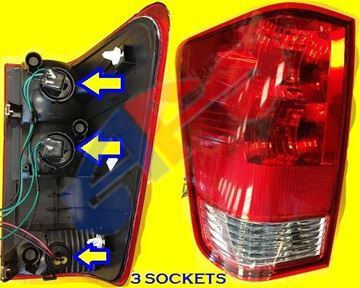 Picture of TAIL LAMP 04-10 LH (WITH 3 SOCKETS) TITAN