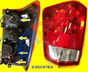 Picture of TAIL LAMP 04-10 LH (WITH 4 SOCKETS) TITAN