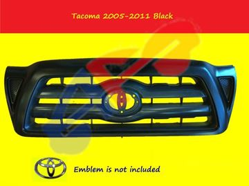 Picture of GRILLE 05-11 SMOOTH-BLACK TACOMA