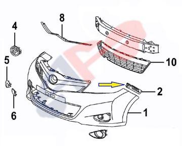 Plastic for 2012 2014 Toyota Yaris Hatchback Front Right RH Bumper Bracket