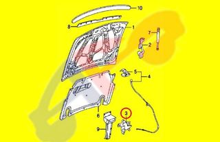 Picture of HOOD LATCH 05-09 MUSTANG