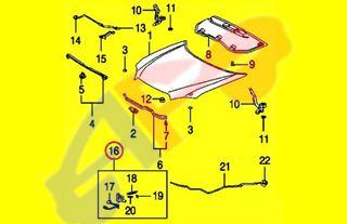 Picture of HOOD LATCH 11-13 W/THEFT DETERRENT HIGHLANDER HYBRID