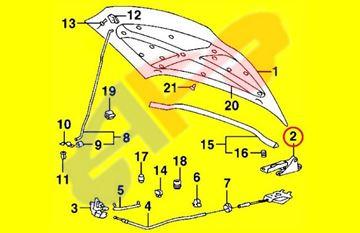 Picture of HOOD HINGE 97-01 RH TIBURON OEM
