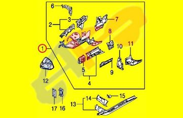 Picture of APRON FENDER 04-10 RH FT ASSY  X3