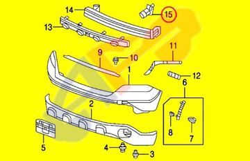 Picture of BRACKET 07-10 FT LH TO-REINFORCEMENT CR-V