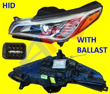 Picture of HEAD LAMP 15-17(N-HYBRID) LH HID SONATA