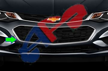 Picture of BUM GRILLE 16-18 CENTER W/O RS L/LS/LT SDN CRUZE