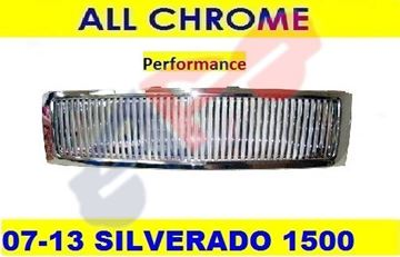 Picture of GRILLE 07-13 VERTICAL-CHR 43 BARS SILVERADO