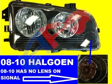 Picture of HEAD LAMP 06-10 RH HALOGEN CHARGER