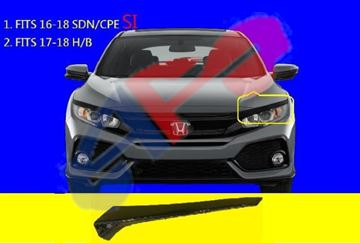 Perfit Liner New Replacement Parts Front Black Grille Assembly Compatible With HONDA Civic Fits HO1200174 75100SVAA01ZA