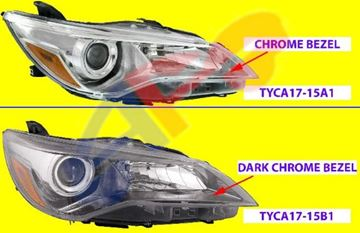 Picture of HEAD LAMP 15-17 RH HALOGEN DARK CHR SE/XSE CAMRY