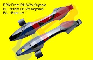 Picture of D/HANDLE 07-12 OUTER FT=RR RH CHR W/O KEYHOLE RDX