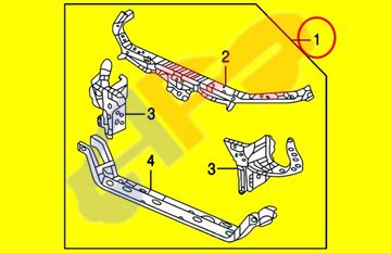Picture of RAD SUPPORT 04-05 ACURA TSX