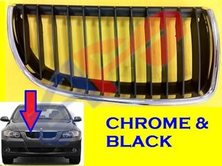 Picture of GRILLE 06-08 RH CHR/BLK SD/WG BMW3S