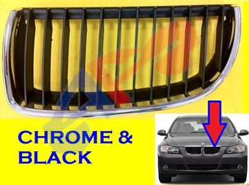 Picture of GRILLE 06-08 LH CHR/BLK SD/WG BMW3S