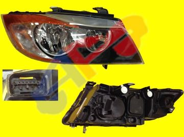 Picture of HEAD LAMP 06-08 RH SDN/WGN HALOGEN=THE REFLECTOR IS YELLOW BMW3S