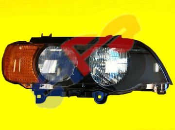 Picture of HEAD LAMP 00-03 RH W/YELLOW SIGNAL HALOGEN BMW X5