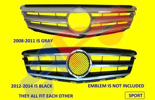 Picture of GRILLE 08-14 CHR/SLV W/SPORT W/PLACE FOR EMBLEM W/O AMG C-CLASS