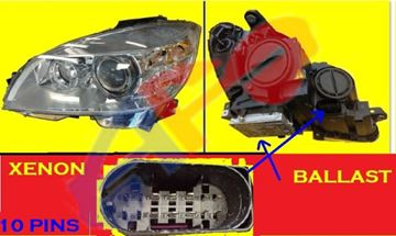 Picture of HEAD LAMP 08-11 LH XENON W/O CURVE-LIGHTING EXCEPT C63 C-CLASS