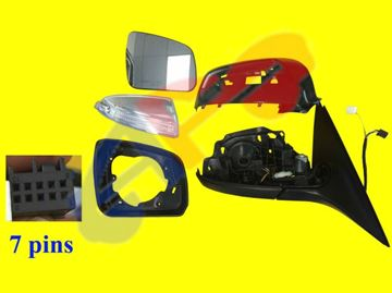 Picture of MIRROR 08-11 RH PWR HT W/SIGNAL & PTM COVER, W/O DIMMING, MANUAL-FOLDING (7-PIN) BZ C-CLASS