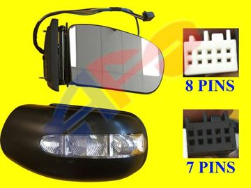 Picture of MIRROR 03-06 RH SDN PWR HT W/MEMORY & SIGNAL & PUDDLE, PWR FOLDING (15-PIN) BZ E-CLASS (04-09 WGN)