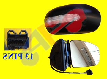 Picture of MIRROR 02-05 LH PWR HT W/MEMORY & SIGNAL, PWR-FOLDING (13-PIN) BZ M-CLASS