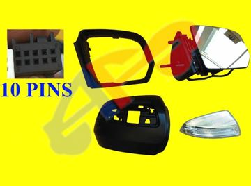 Picture of MIRROR 09-10 RH PWR HT W/SIGNAL & PUDDLE, PWR-FOLDING (10-PIN) BZ M-CLASS/GL-CLASS (10-11 ML450 HYBRID)