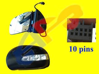 Picture of MIRROR 06-10 LH PWR HTD W/SIGNAL & PUDDLE, PWR-FOLDING (10-PIN) BZ R-CLASS