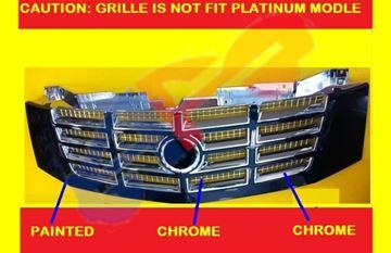 Picture of GRILLE 07-14(N-HYBRID) CHR W/BLK FRAME ESV/07-13 EXT/09-13(HYBRID) ESCALADE