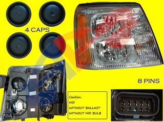 Picture of HEAD LAMP 03-06 RH HID ESCALADE/ESCALADE EXT