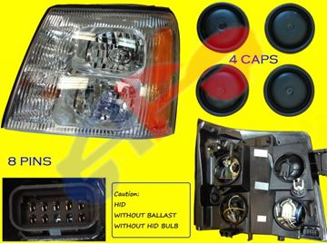 Picture of HEAD LAMP 03-06 LH HID ESCALADE/ESCALADE EXT
