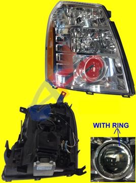 Picture of HEAD LAMP 07-09(N-HYBRID) RH W/HID 1ND DESIGN/EXT/09-09(HYBRID) ESCALADE