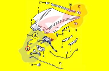 Picture of HOOD LATCH 95-02 HOLDER STRIKER CAVALIER/SUNFIRE