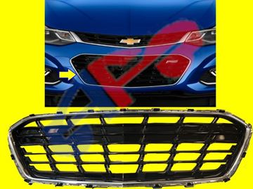 Picture of BUMPER GRILLE 16-18 W/RS SDN CRUZE